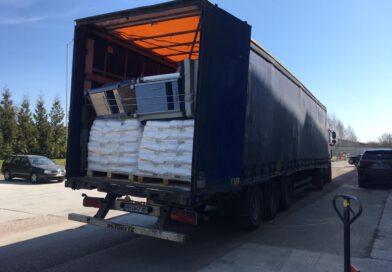 Transport van 8 april veilig gearriveerd in Zhitomir
